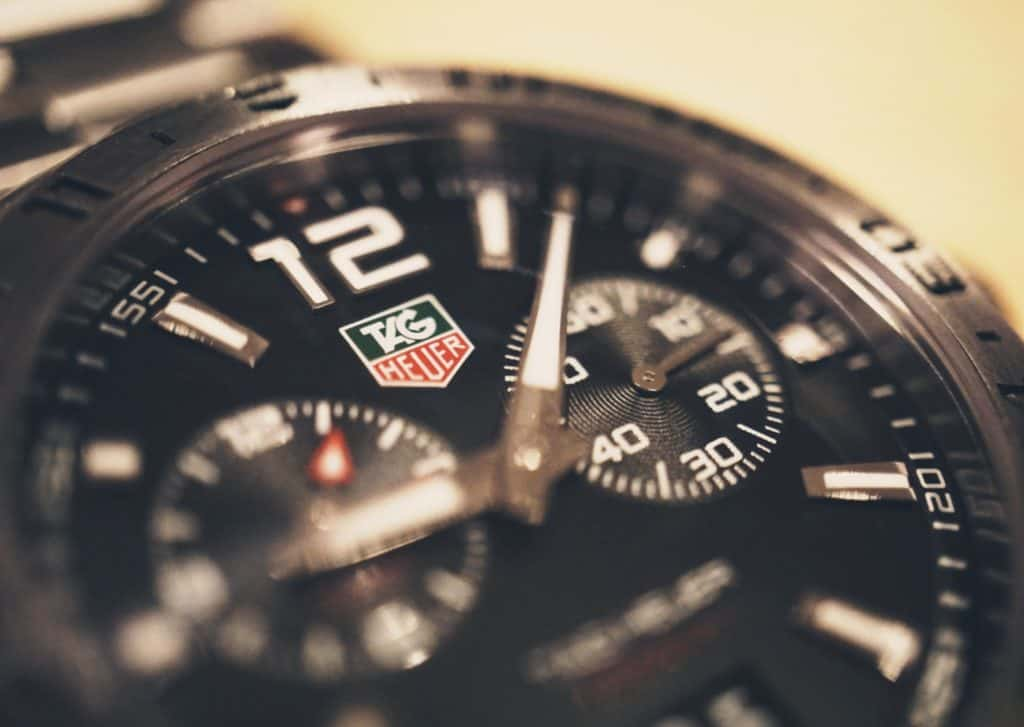 magnified tag heuer watch face