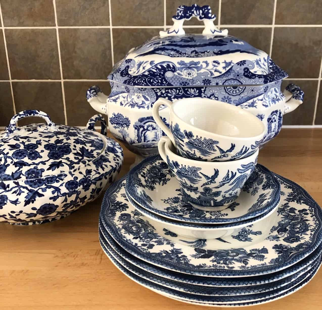 Wedgewood and Spode Blue and White Porcelain